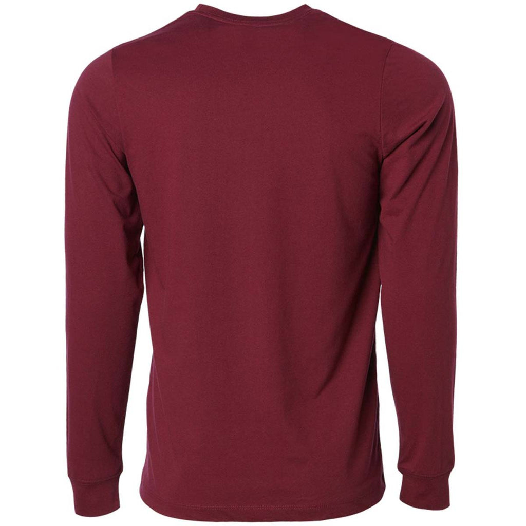 Independent Trading Co. Unisex Maroon Long Sleeve Special Blend T-Shirt