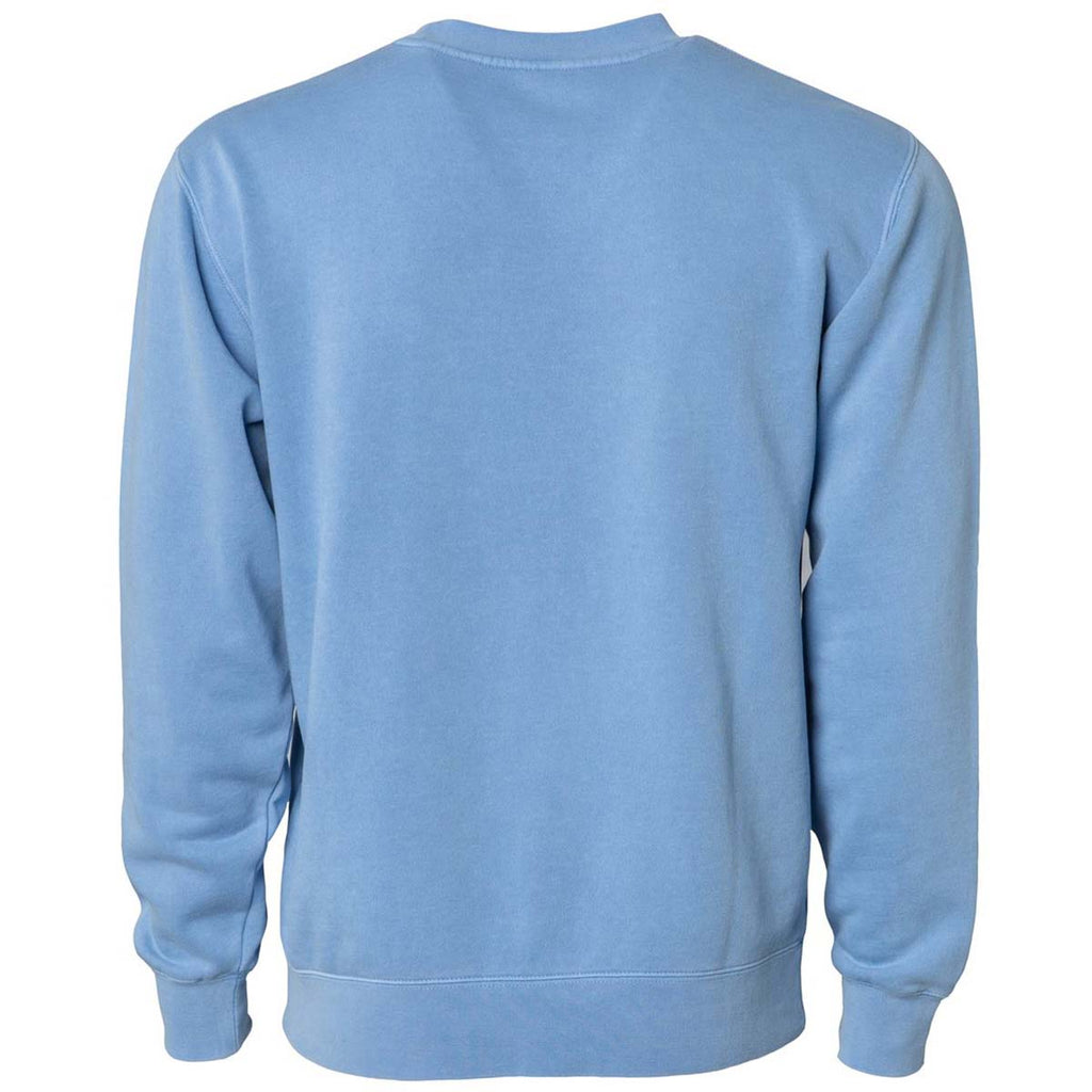 Independent Trading Co. Unisex Pigment Light Blue Dyed Crew Neck