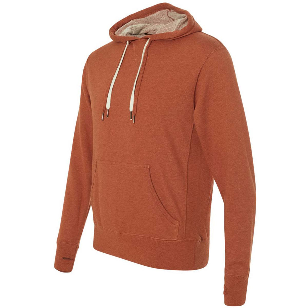 Independent Trading Co. Unisex Burnt Orange Heather Midweight French Terry Hooded Pullover Sweatshirt