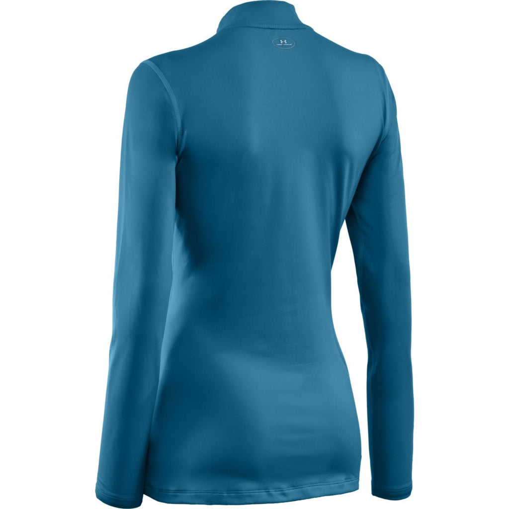 Under Armour Women's Turquoise ColdGear Fitted L/S Mock