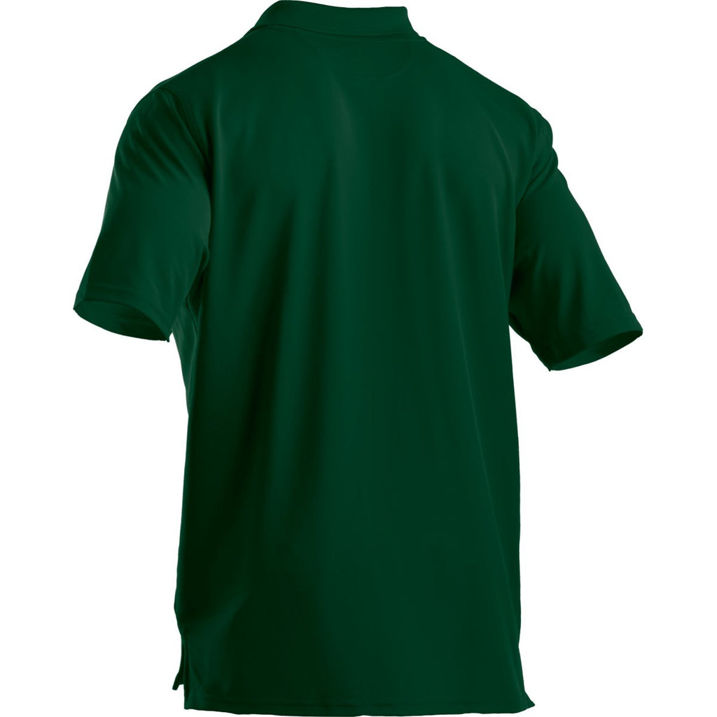 Under Armour Men's Forest Green Performance Team Polo