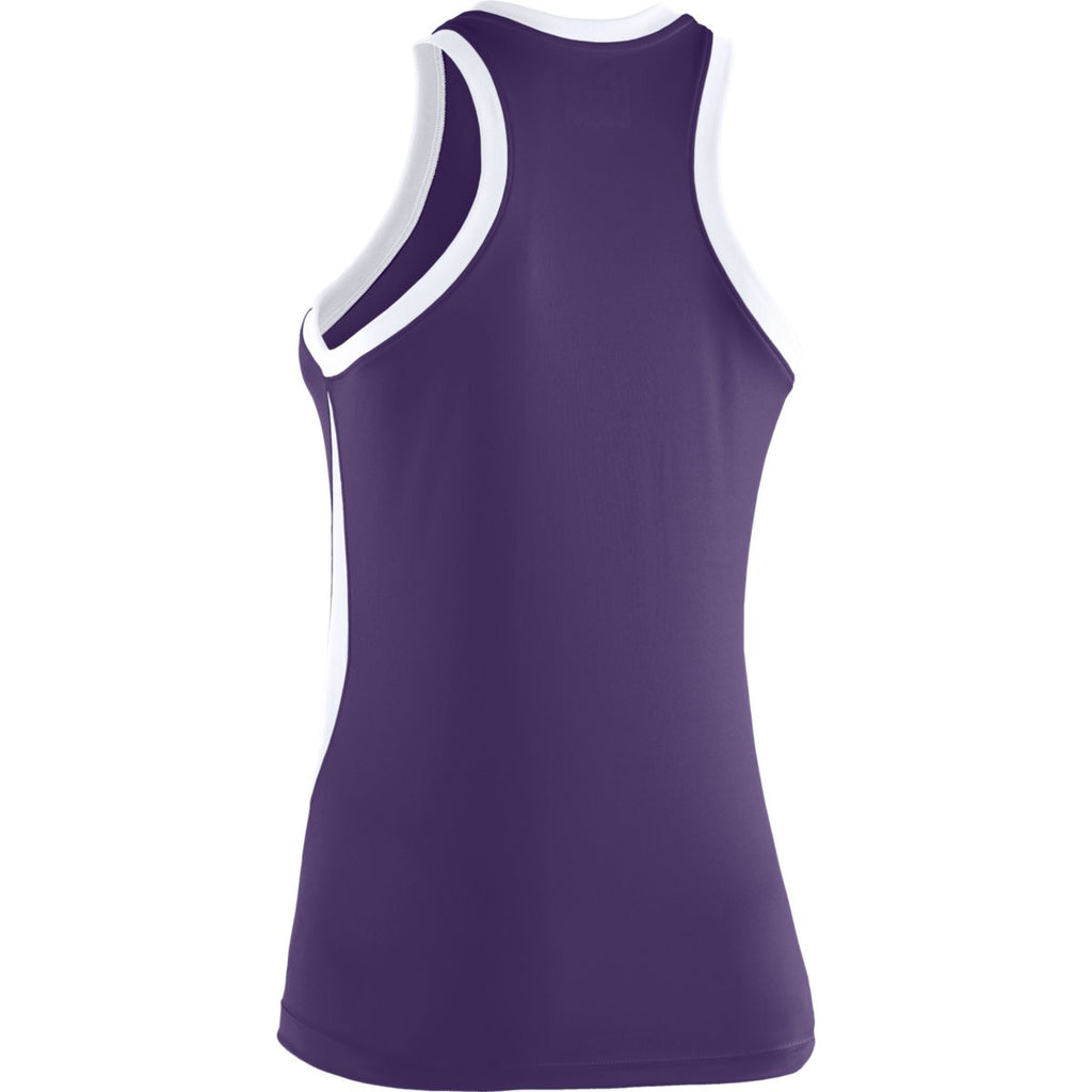 Under Armour Women's Purple Recruit Sleeveless T-Shirt