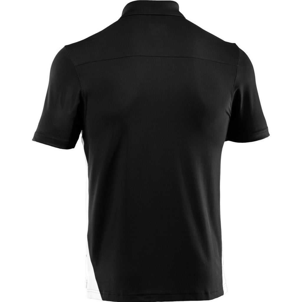 Under Armour Men's Black/White Colorblock Polo