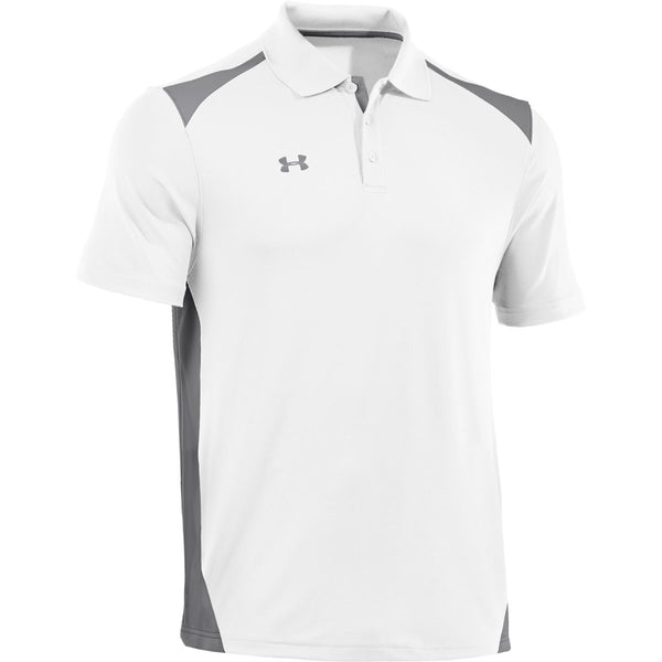 Agua con gas Samuel Embrión  Under Armour Men's White/Graphite Colorblock Polo