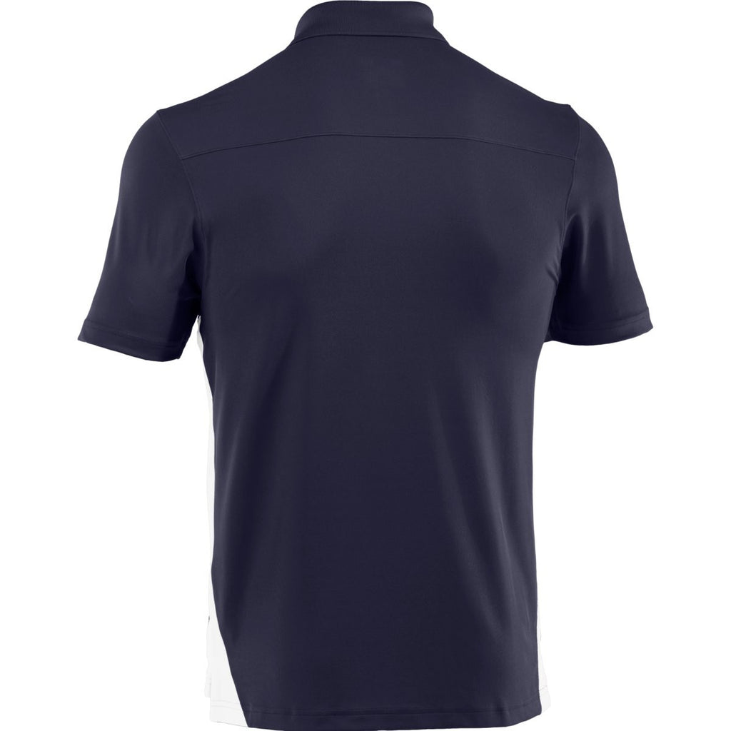 Under Armour Men's Midnight Navy/White Colorblock Polo