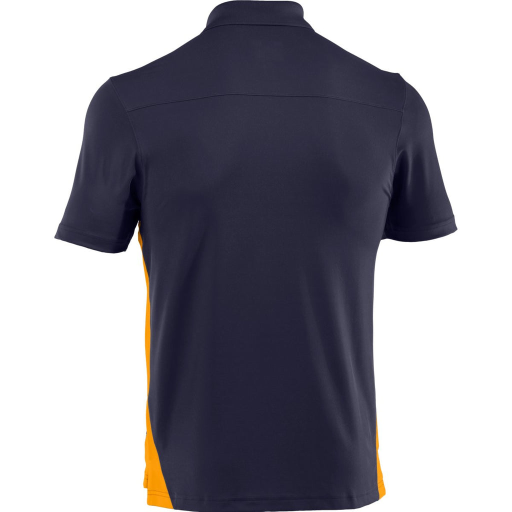 Under Armour Men's Midnight Navy/Steeltown Gold Colorblock Polo