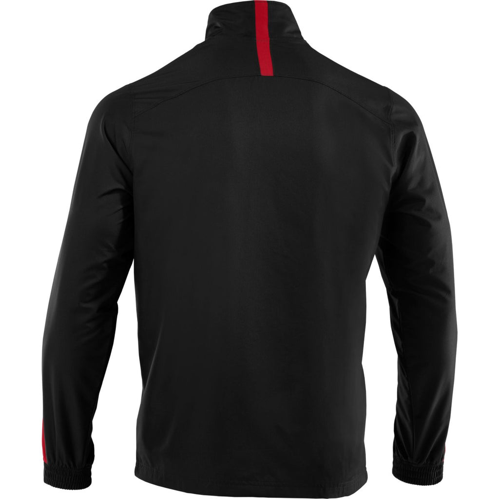 Under Armour Men's Black/Red Essential Woven Jacket
