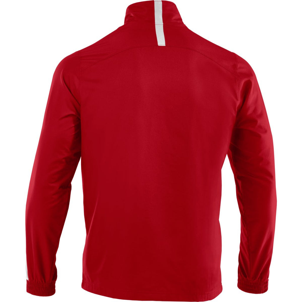 Under Armour Men's Red/White Essential Woven Jacket