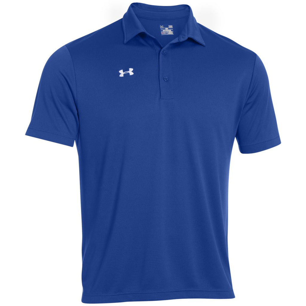 Under armour men 39 s royal team rival polo for Under armor business shirts