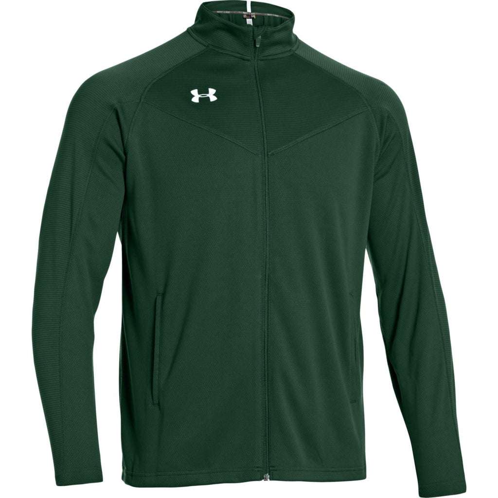 c75bcdfb8 Under Armour Men's Forest Green Fitch Full Zip Jacket. ADD YOUR LOGO