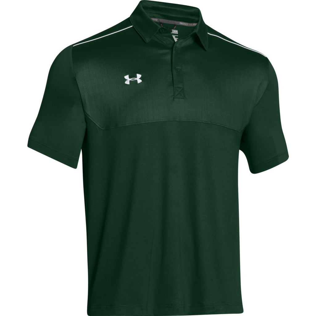 Under armour men 39 s green ultimate polo for Under armour shirts at walmart