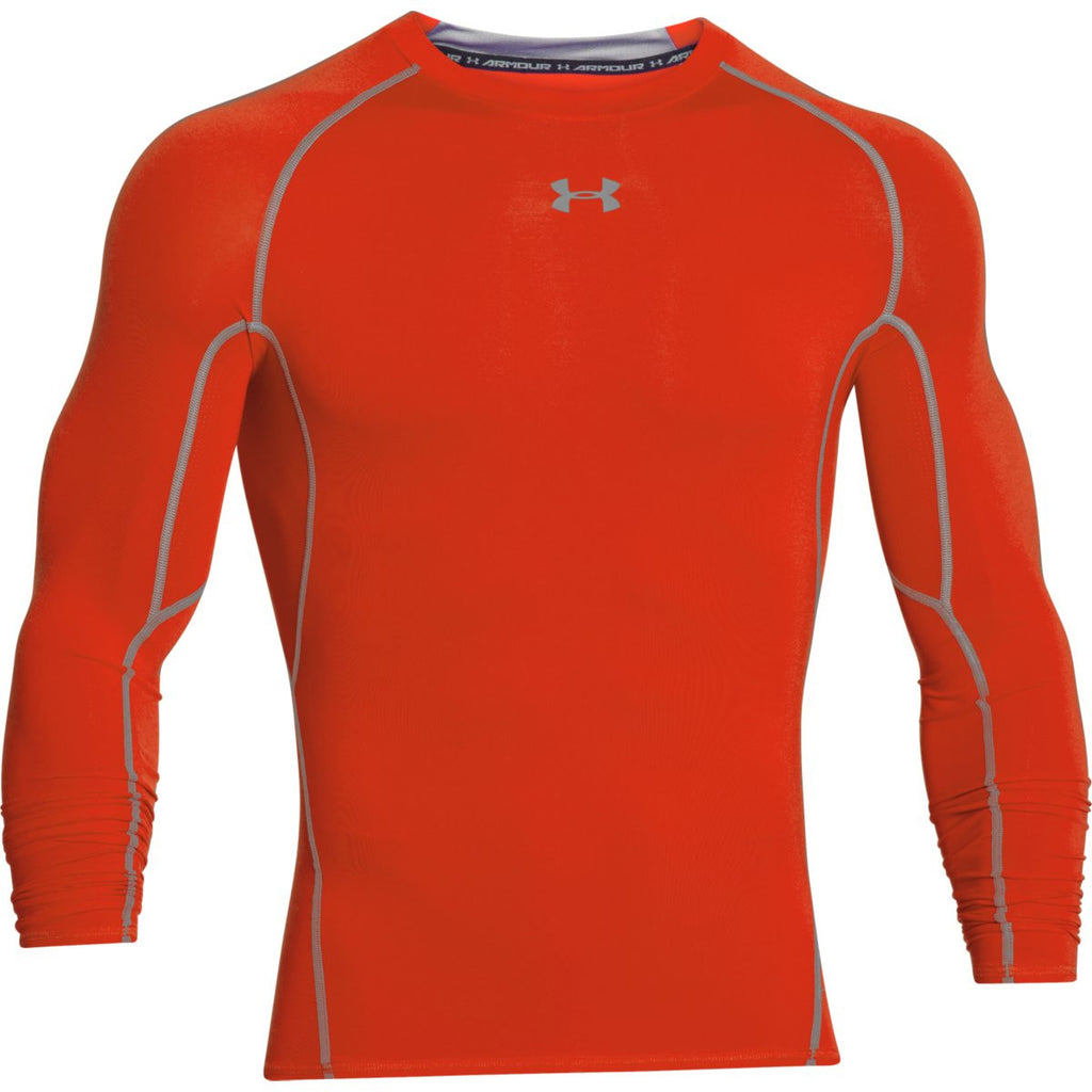 9d5451c0 Under Armour Men's Orange HeatGear Armour L/S Compression Shirt. ADD YOUR  LOGO