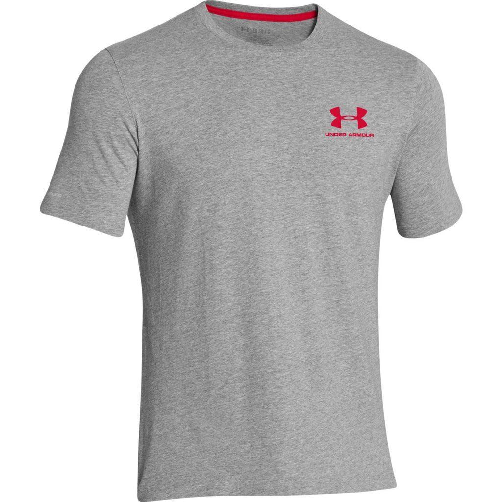 fdf68645 Under Armour Men's True Grey Charged Cotton Sportstyle T-Shirt. ADD YOUR  LOGO