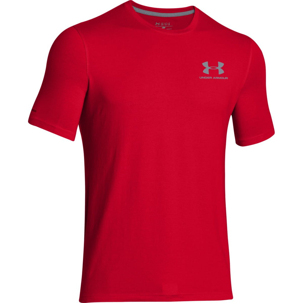 73edb273 Under Armour Men's Red Charged Cotton Sportstyle T-Shirt. ADD YOUR LOGO