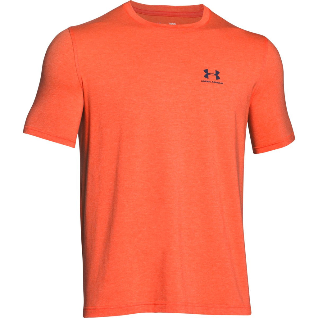 Under Armour Men 39 S Orange Charged Cotton Sportstyle T Shirt