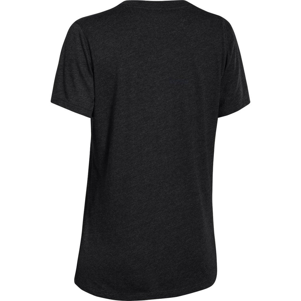 Under Armour Corporate Women's Black Heather S/S V-Neck Tee