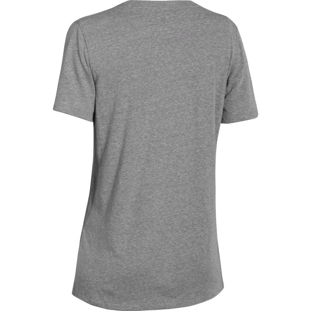 Rally Under Armour Corporate Women's Grey Heather S/S V-Neck Tee