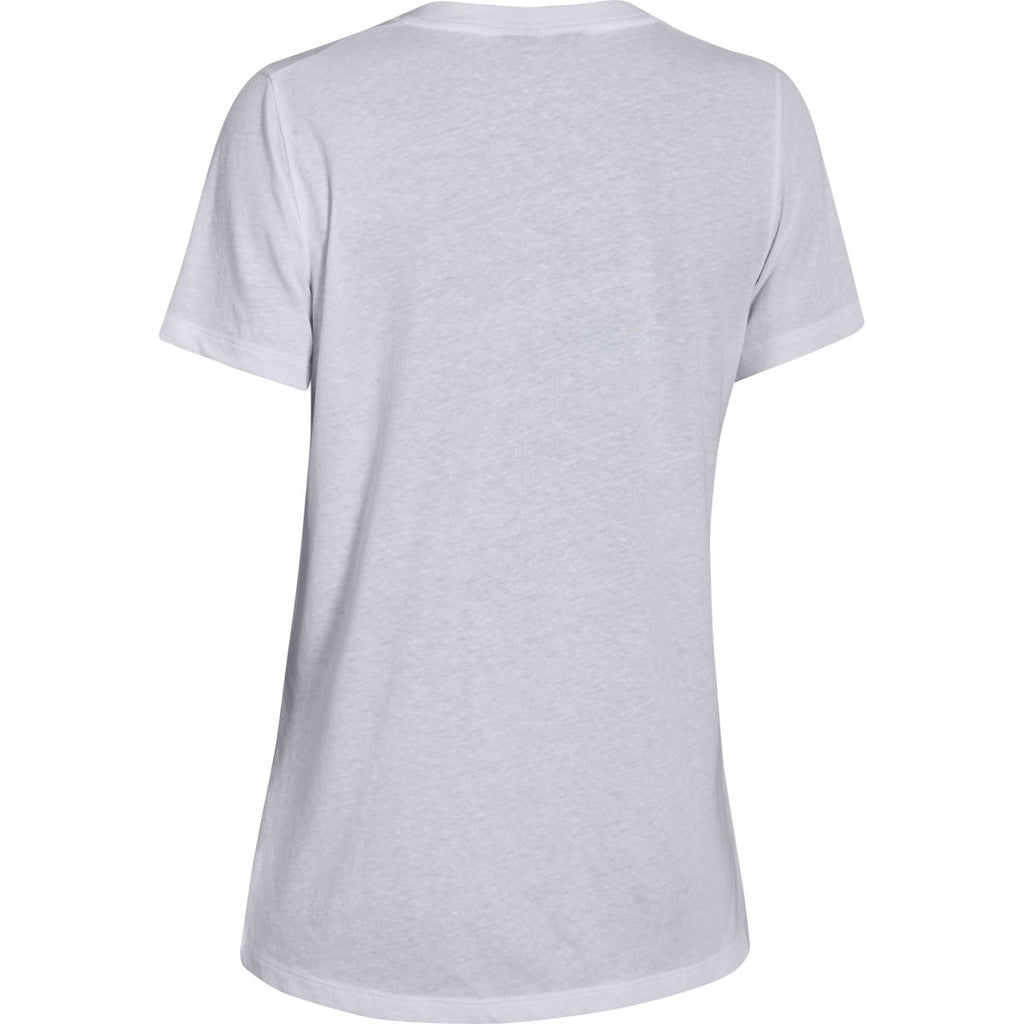 Under Armour Corporate Women's White S/S V-Neck Tee