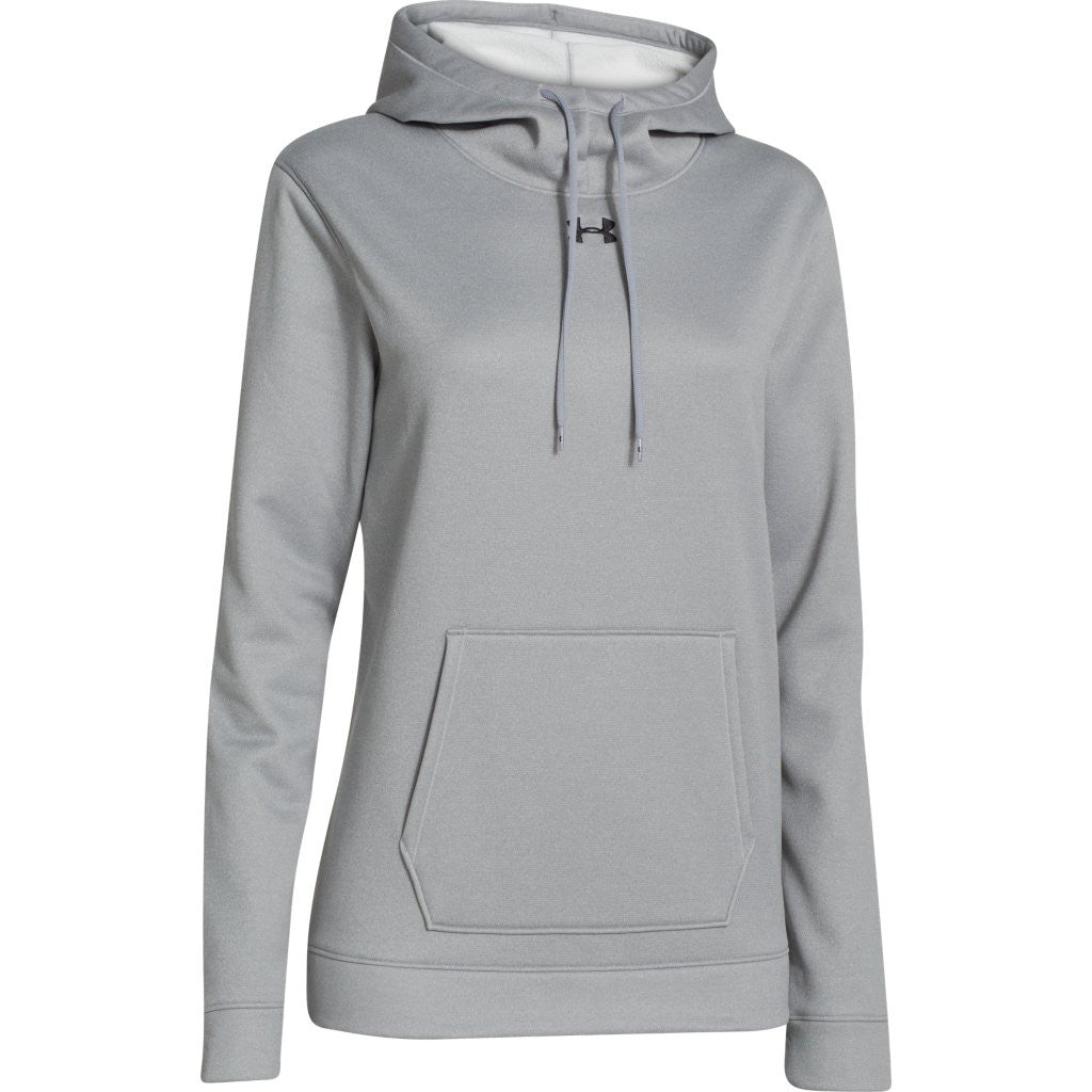 074e50864af1 Under Armour Women s True Gray Heather Storm Armour Fleece Hoodie. ADD YOUR  LOGO