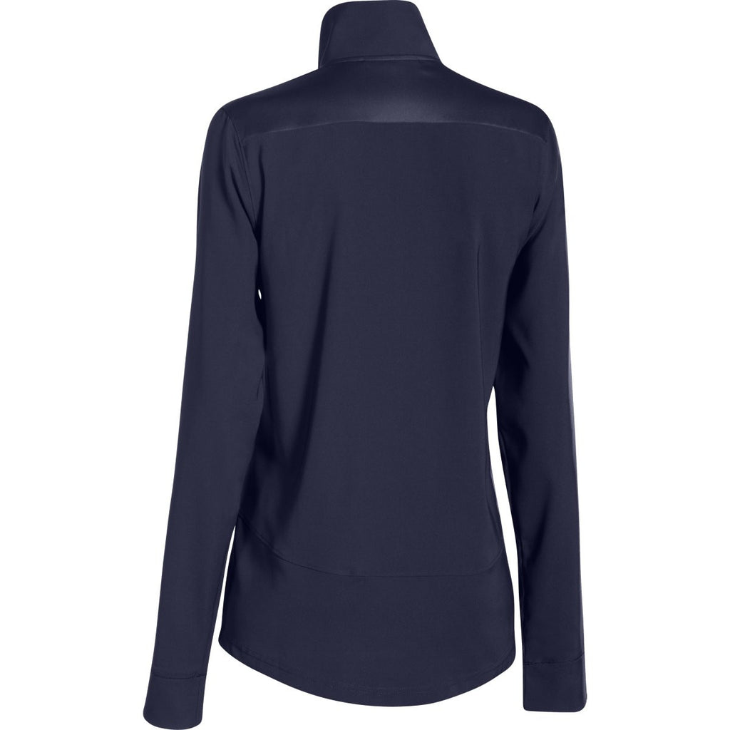 Under Armour Women's Midnight Navy Pre-Game Woven Jacket