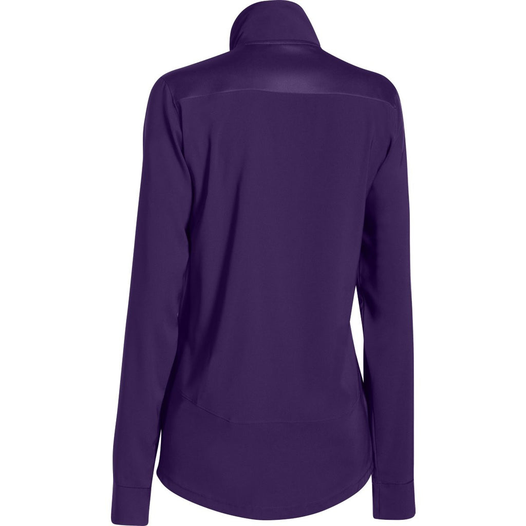 Under Armour Women's Purple Pre-Game Woven Jacket
