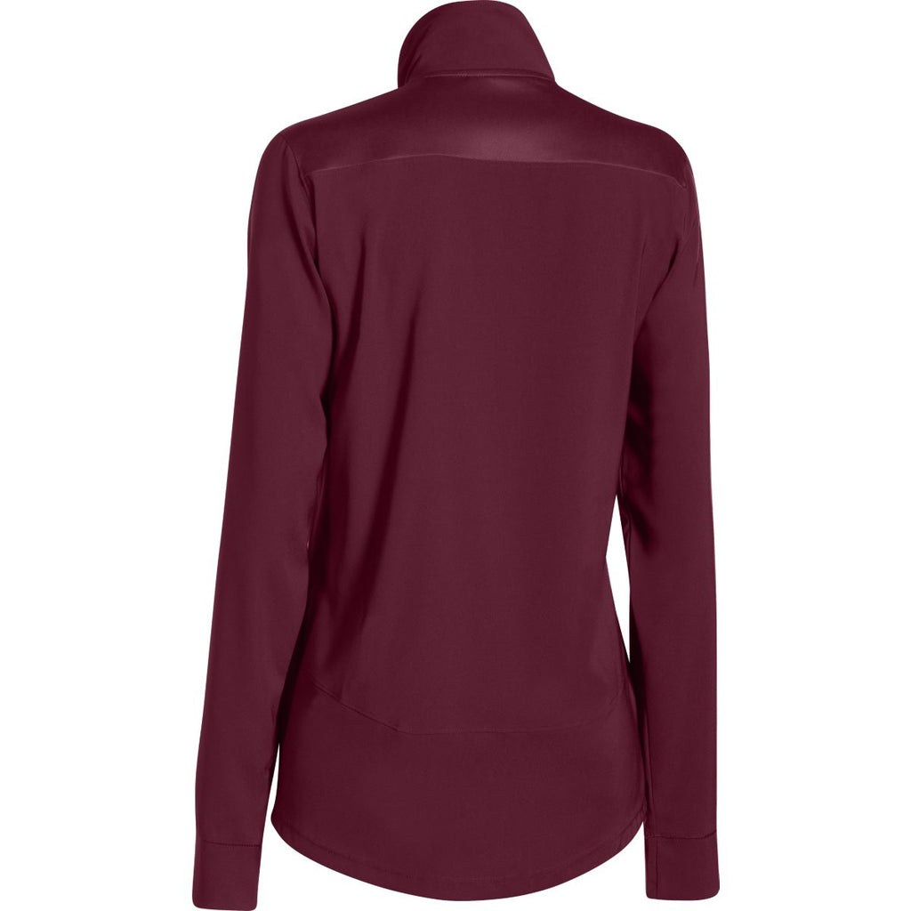 Under Armour Women's Maroon Pre-Game Woven Jacket