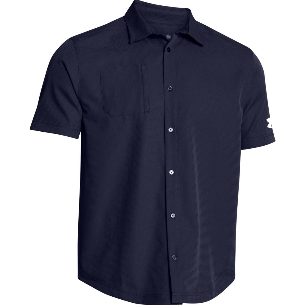 Under Armour Men 39 S Navy Ultimate S S Button Down Shirt