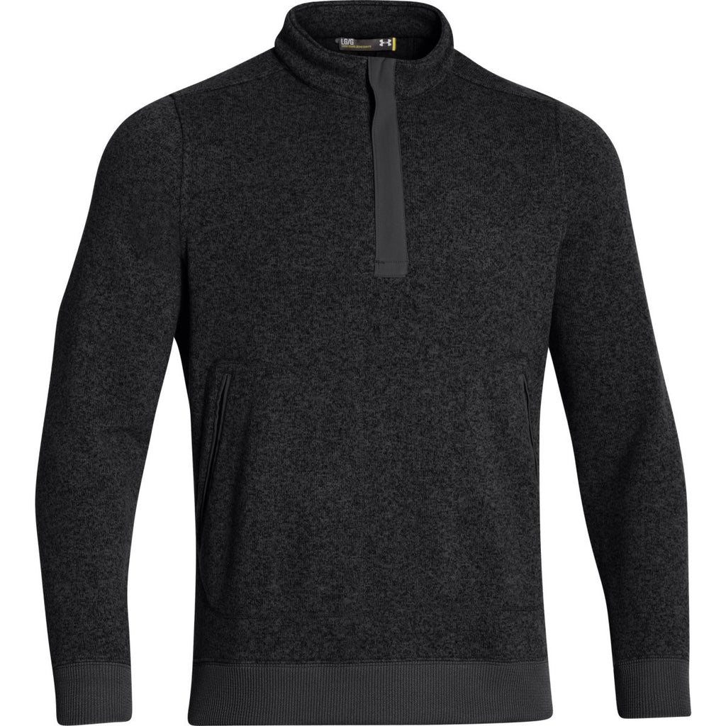Under Armour Men s Black Elevate Quarter Zip Sweater. ADD YOUR LOGO a8694e22a