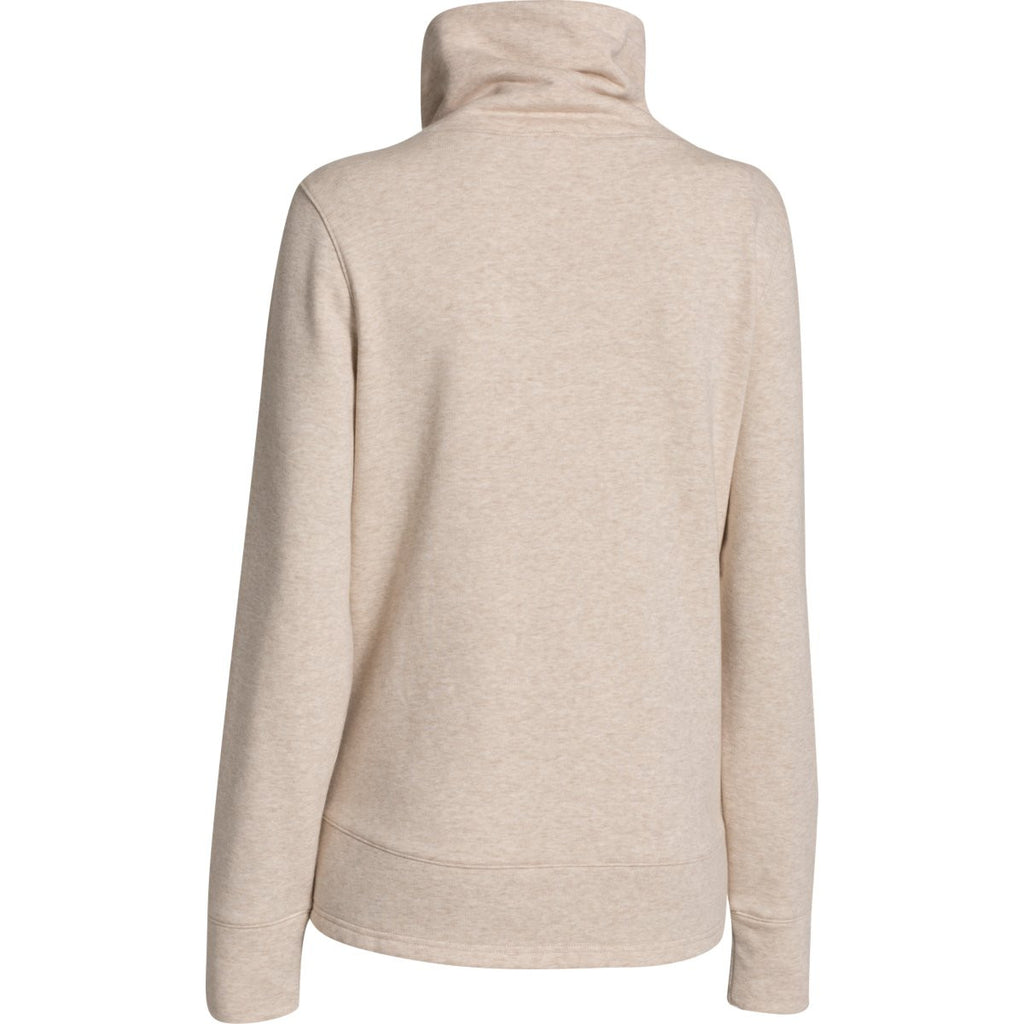 Under Armour Women's Oatmeal Heather Wrap Up Full Zip