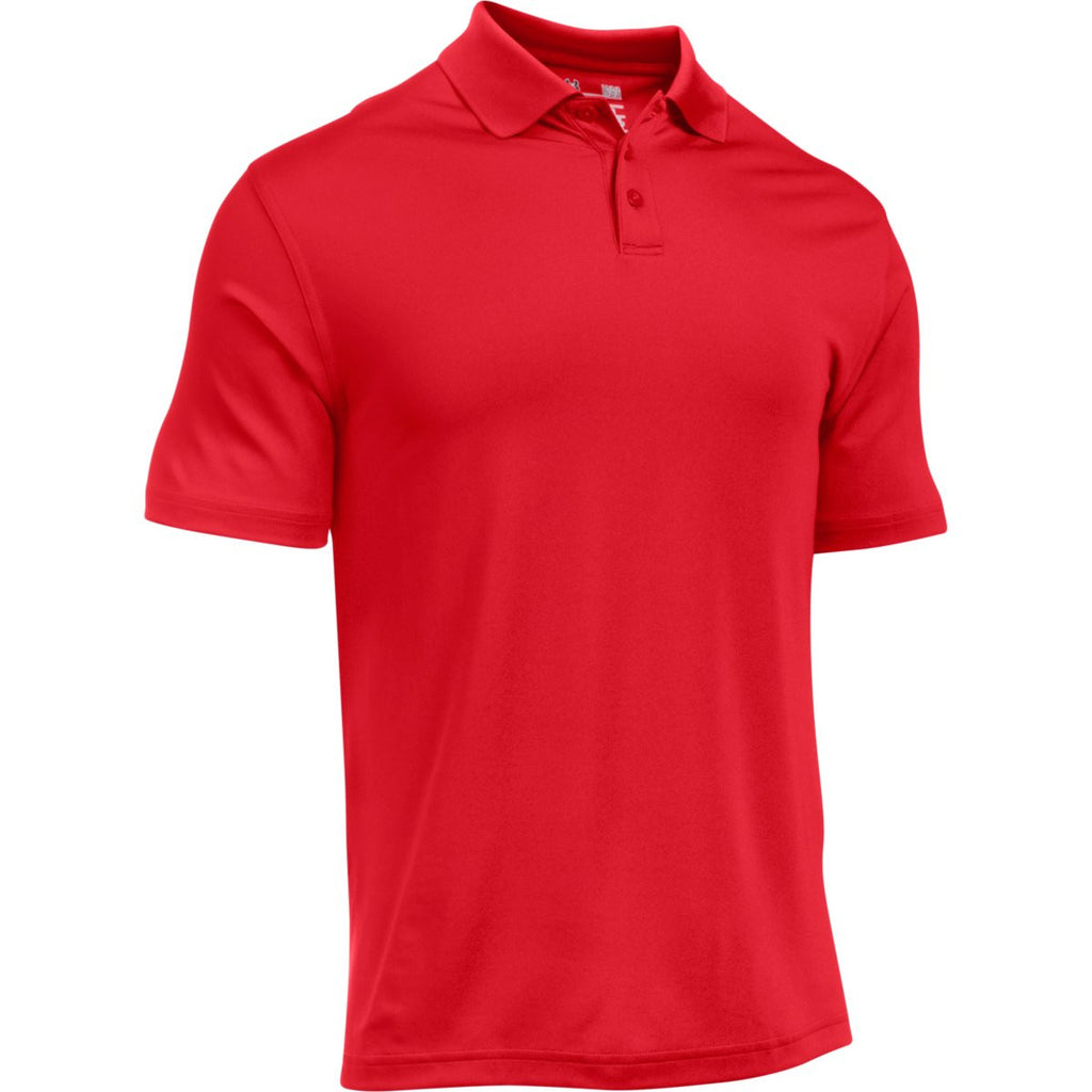 Under Armour Corporate Mens Red Performance Polo
