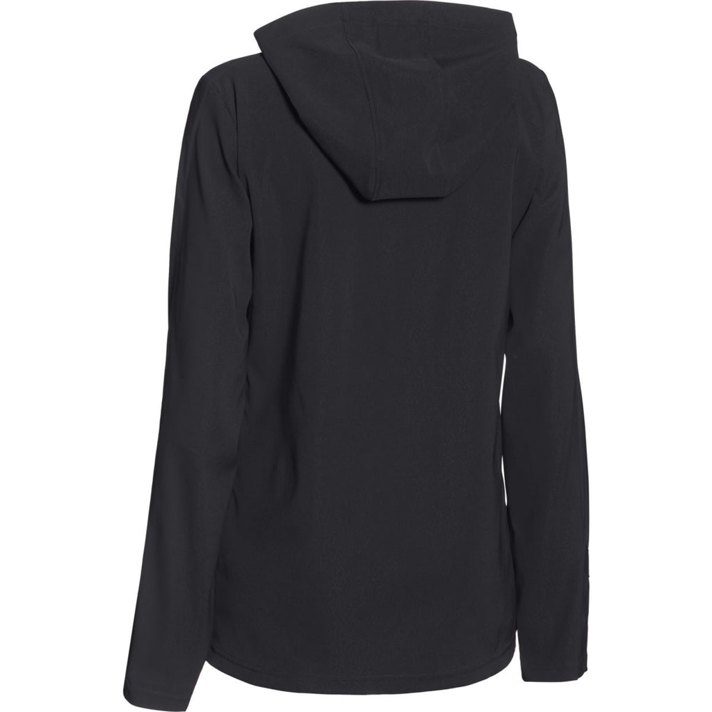 Under Armour Women's Black Pre-Game Woven 1/4 Zip
