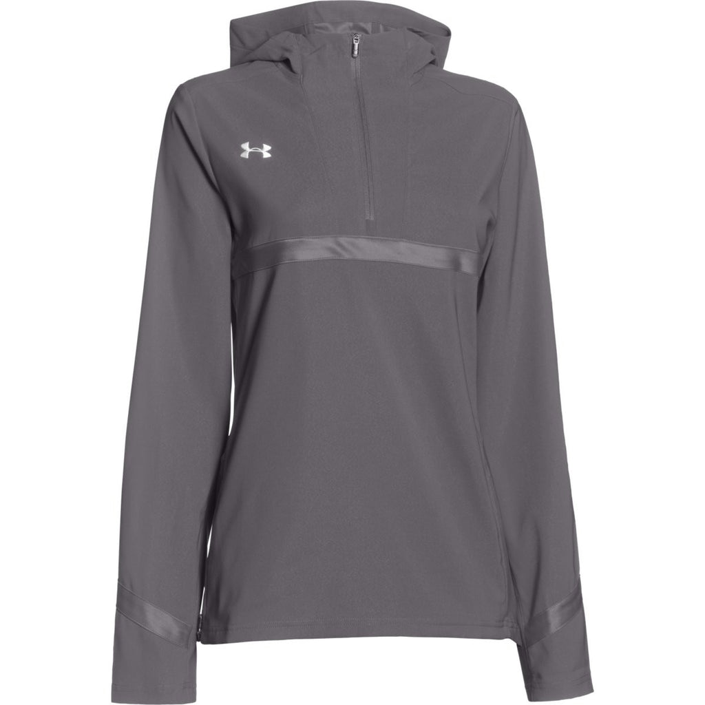Under Armour Womens Graphite Pre Game Woven 14 Zip