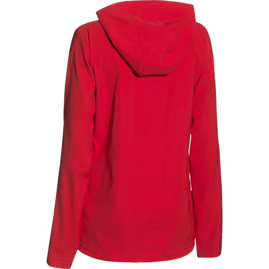 Under Armour Women's Red Pre-Game Woven 1/4 Zip