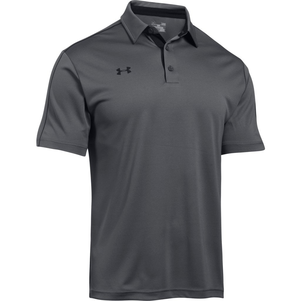 Under armour corporate men 39 s graphite tech polo for Under armor business shirts