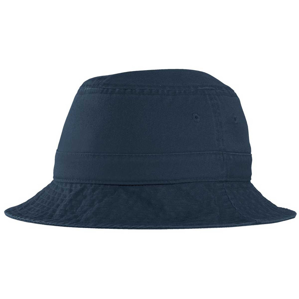 69b7d78fceb Port Authority Navy Bucket Hat. ADD YOUR LOGO