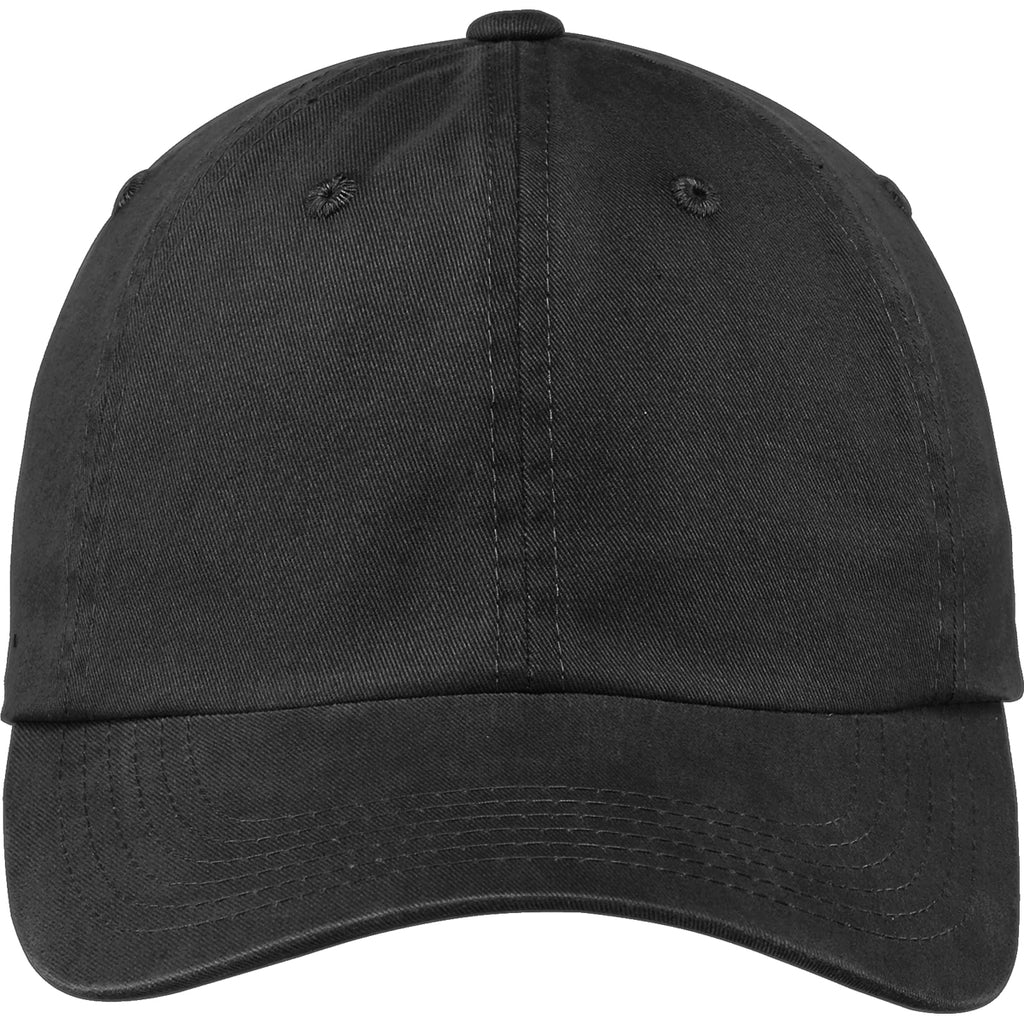 Port Authority Black Garment Washed Cap