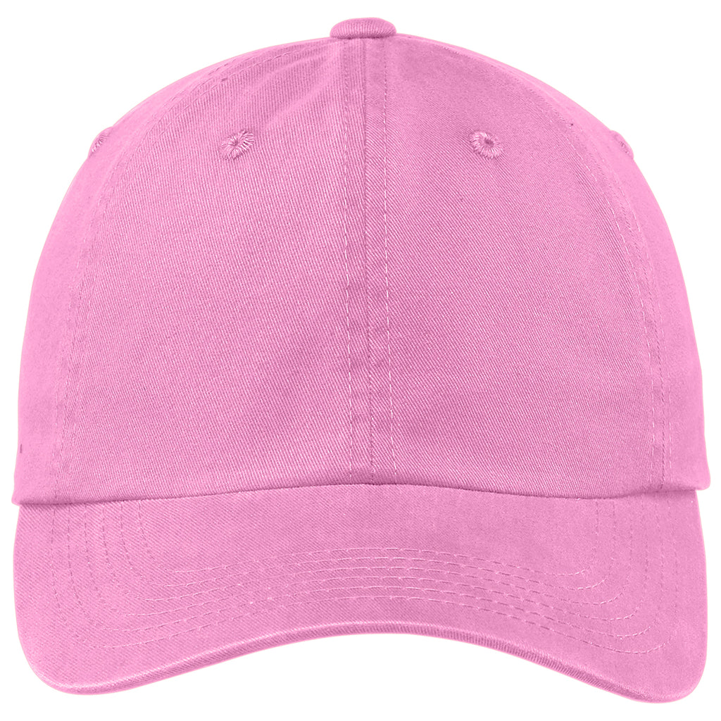 Port Authority Bright Pink Garment Washed Cap