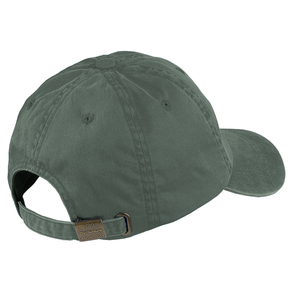 Port Authority Green Garment Washed Cap