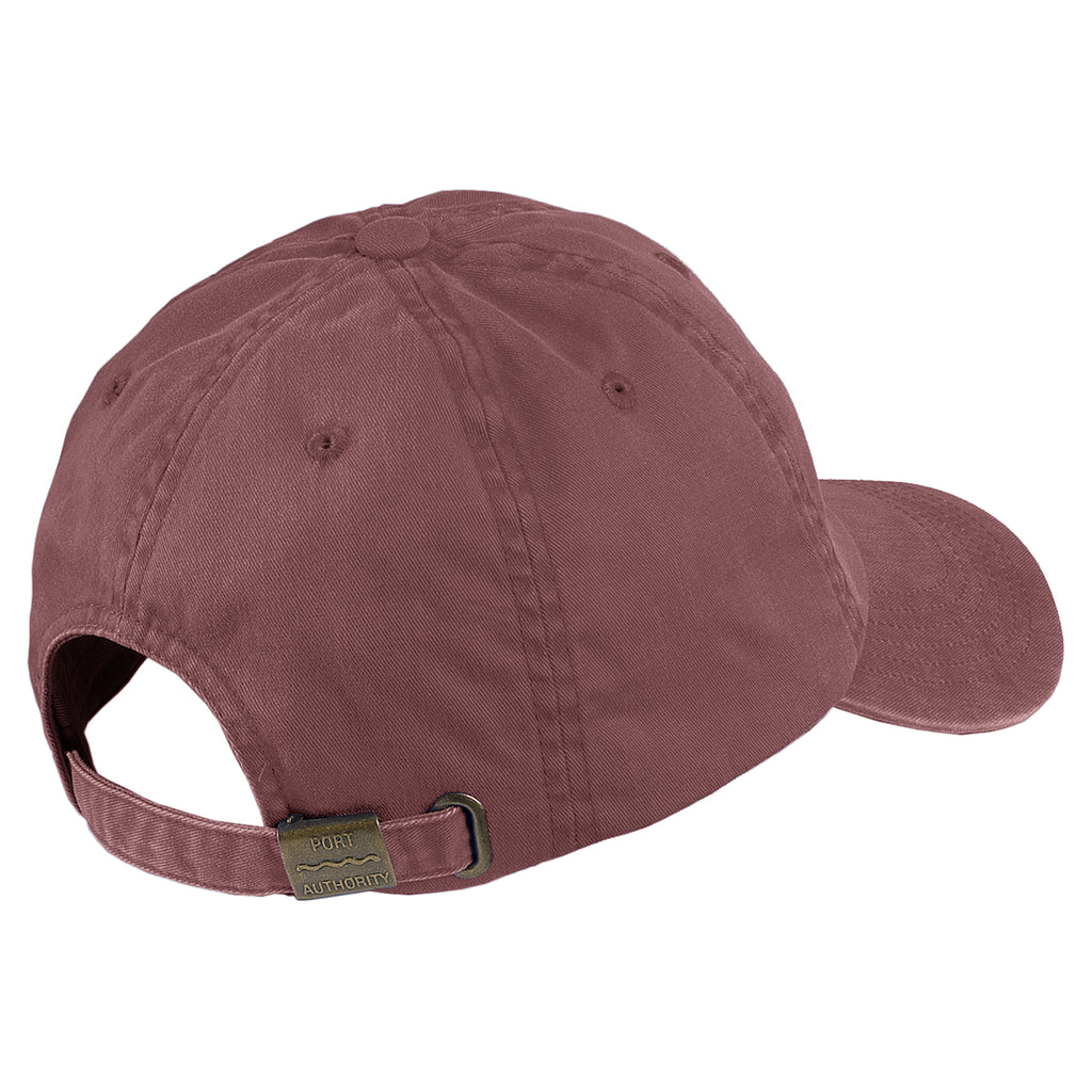 Port Authority Maroon Garment Washed Cap