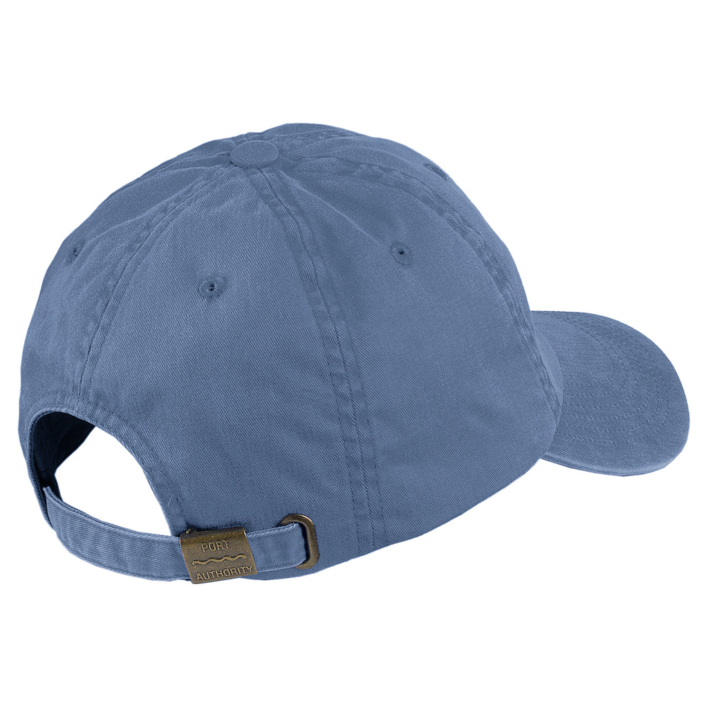 Port Authority Steel Blue Garment Washed Cap