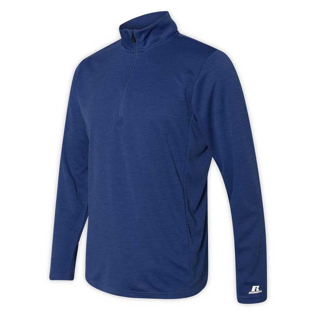 Russell Athletic Men's Royal Striated Quarter Zip Pullover