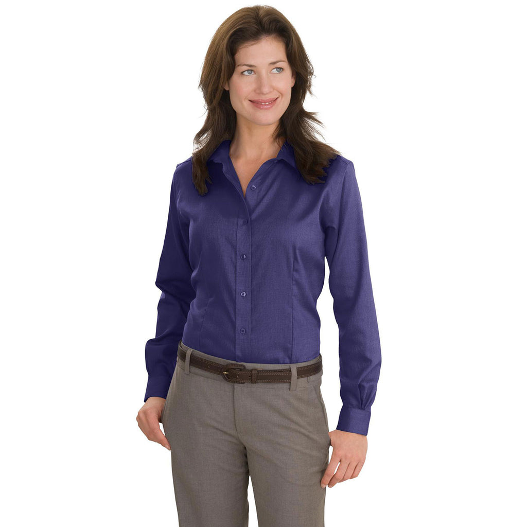 Red House Women's Dark Purple Nailhead Non-Iron Shirt