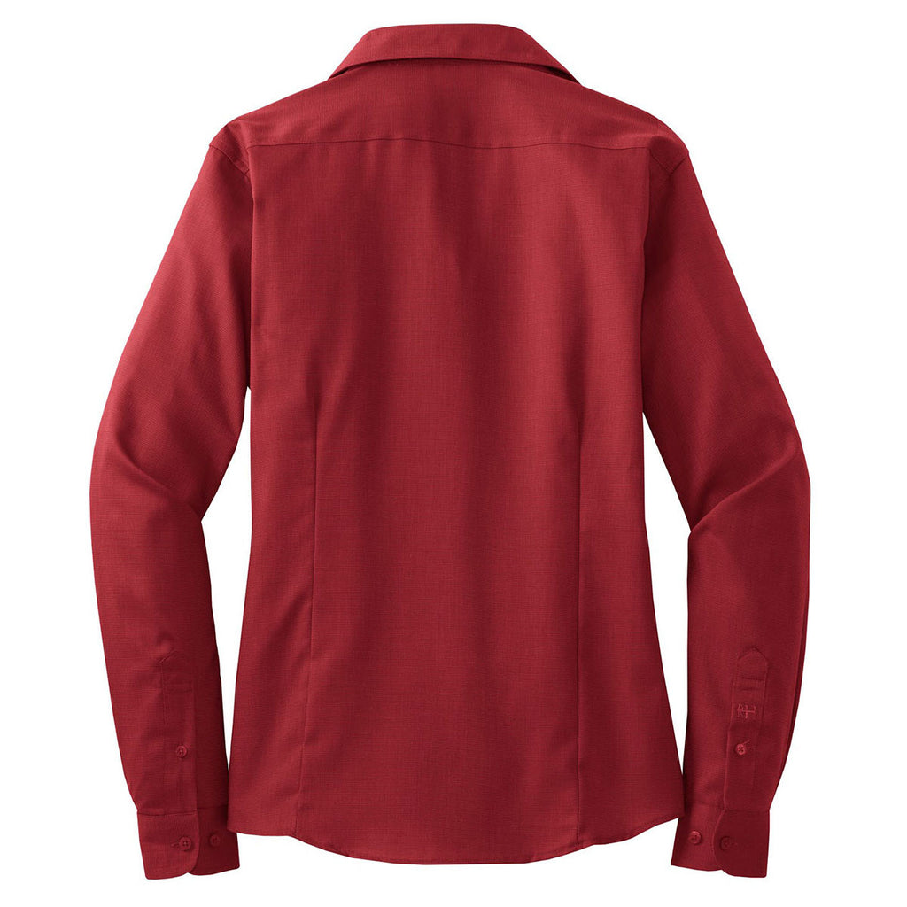 Red House Women's Deep Red Nailhead Non-Iron Shirt