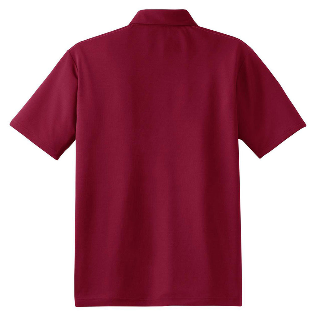 Red House Men's Bordeaux Red Contrast Stitch Performance Pique Polo