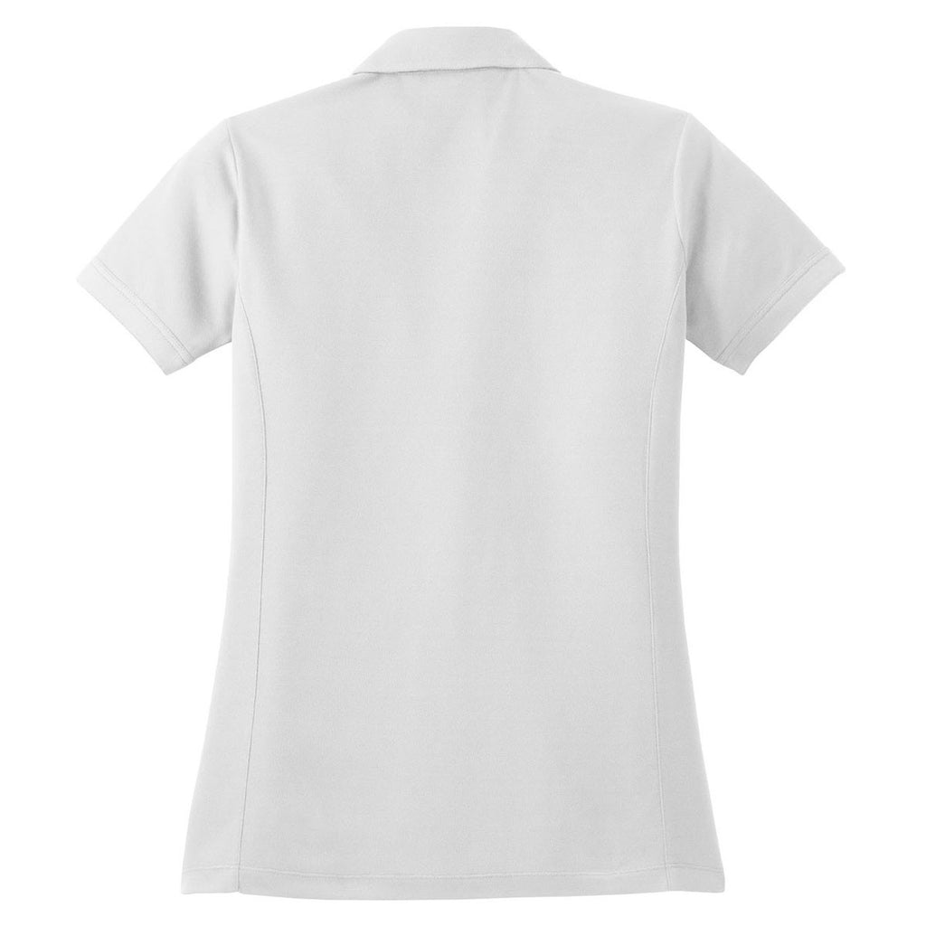 Red House Women's White Contrast Stitch Performance Pique Polo