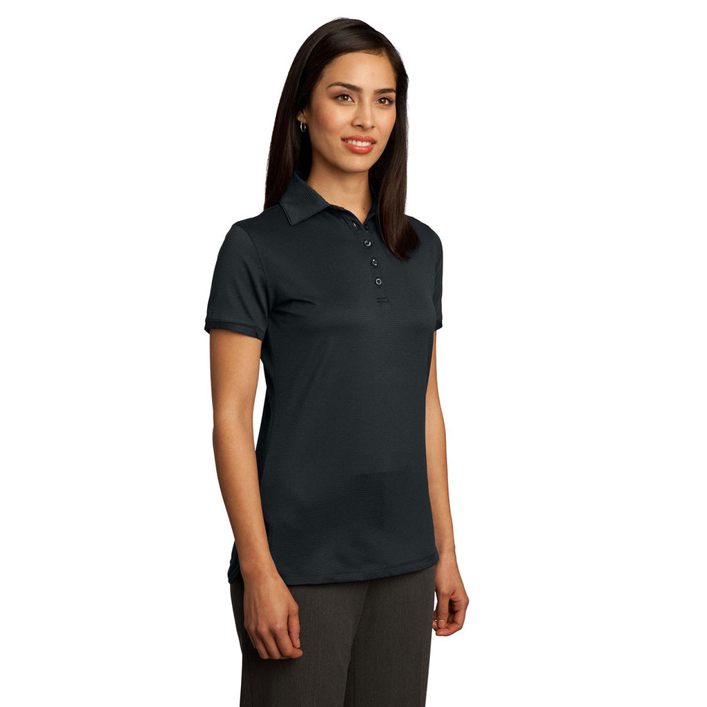 Red House Women's Black Ottoman Performance Polo