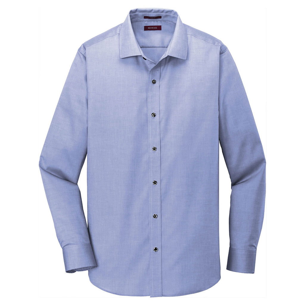 4a493eae1 Red House Men's Vintage Navy Slim Fit Pinpoint Oxford Non-Iron Shirt