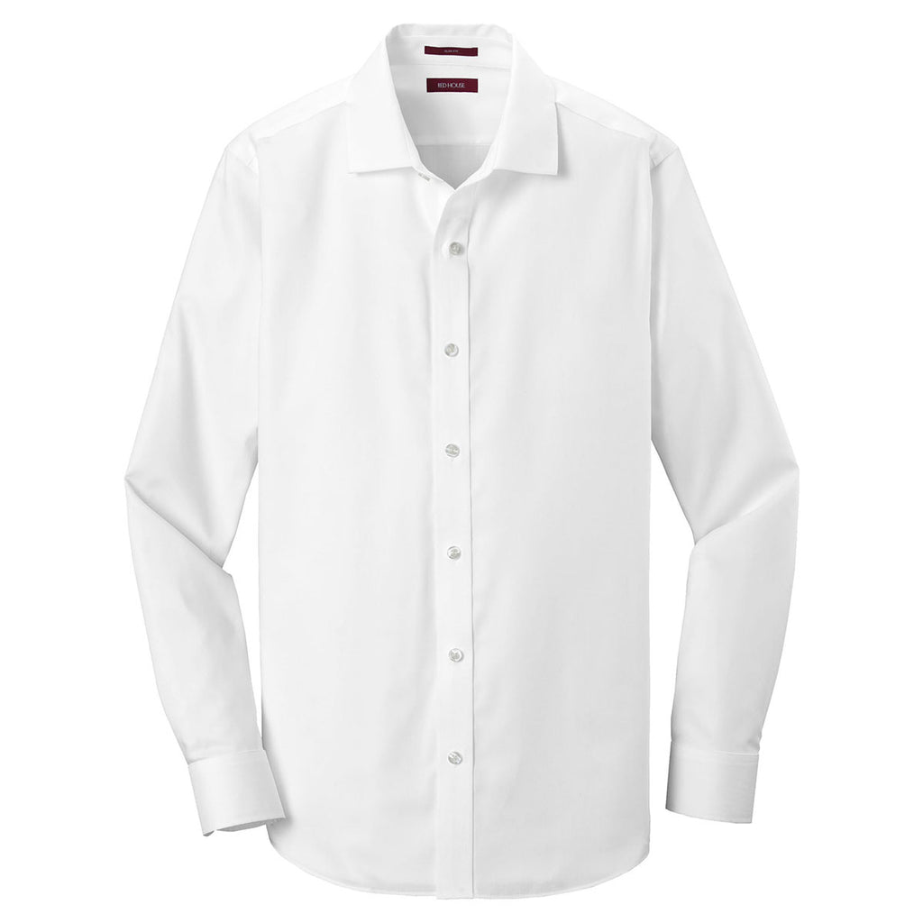 876762f3ce1 Red House Men s White Slim Fit Pinpoint Oxford Non-Iron Shirt