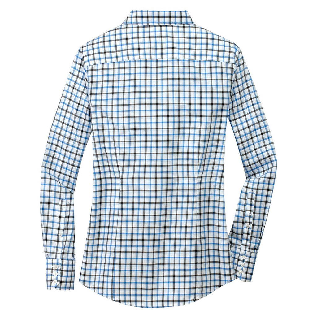 Red House Women's Sky Blue/Grey/White Tricolor Check Non-Iron Shirt