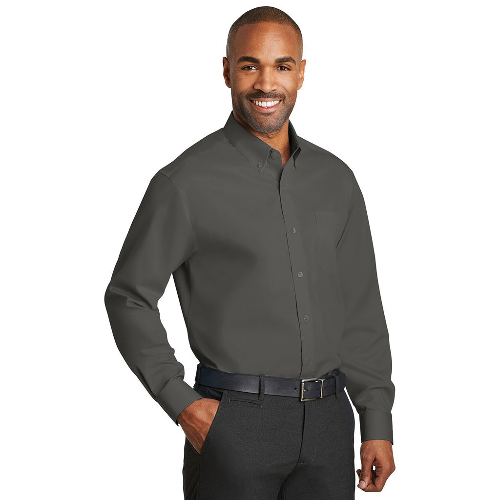 Red House Men's Grey Steel Non-Iron Twill Shirt